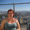 She is so cute! This is the top of The Stratosphere (tallest building)