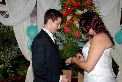 Placing the Ring on Derek's Finger