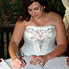Amy Signing the Marriage Certificate
